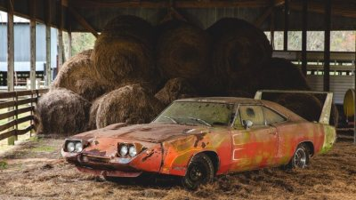 For car collectors, it's equivalent to finding a Picasso in the attic or a letter from Abraham Lincoln in their grandfather's papers. A rare vintage car has been sitting in a barn for decades.