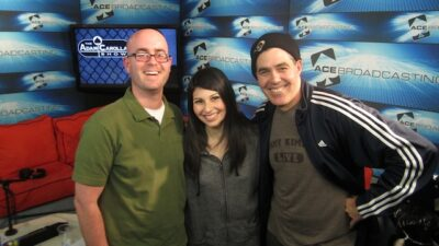 Adam, Bald Bryan, and Alison Rosen
