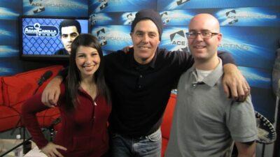 Adam, Bald Bryan, and Alison Rosen