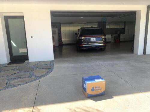 02 - Blue Apron Box on Driveway