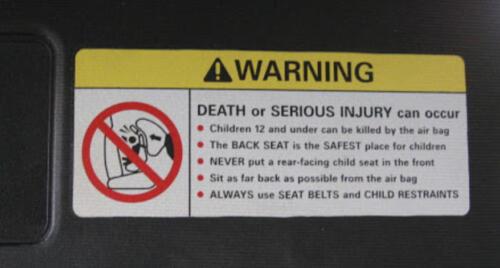 02 - Car visor warning