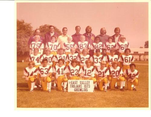 02 - East Valley Trojans Football 1973 Adam #70 and Erik #14