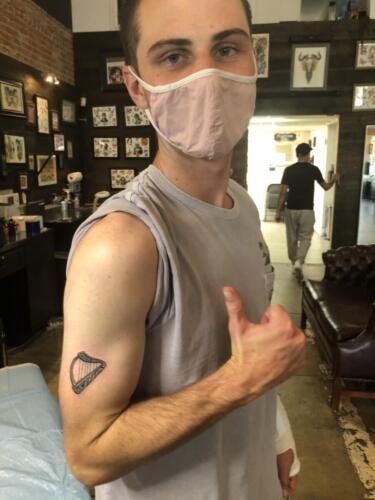 07 - Greg Fitz Son Family Harp Tattoo