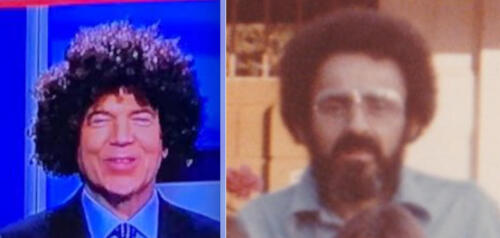 12 - Jim Carolla News Anchor Afro side by side